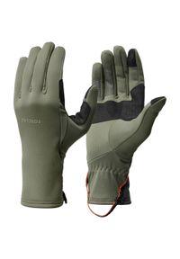 FORCLAZ - Rękawiczki trekkingowe dla dorosłych Forclaz Trek 500 Stretch. Materiał: włókno, poliester, elastan. Sezon: jesień, wiosna