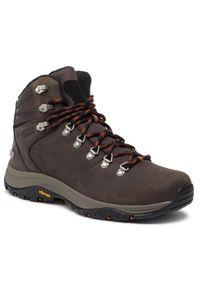 Brązowe buty trekkingowe columbia trekkingowe
