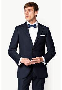 Lancerto - Marynarka Business Mix Granat. Okazja: na spotkanie biznesowe. Materiał: poliester, wiskoza, tkanina, wełna. Styl: biznesowy