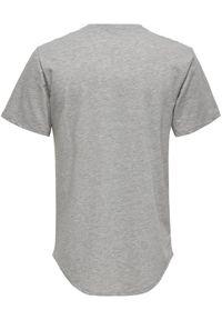 Only & Sons - ONLY & SONS T-Shirt Matt Life 22002973 Szary Regular Fit. Kolor: szary