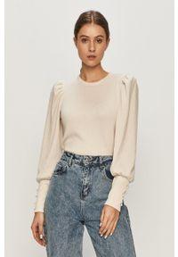only - Only - Sweter. Kolor: beżowy. Długość rękawa: długi rękaw. Długość: długie. Wzór: aplikacja