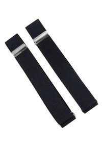 Modini - Czarne opaski do rękawów koszuli X1. Kolor: czarny. Materiał: guma