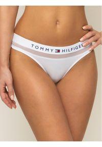Białe stringi TOMMY HILFIGER