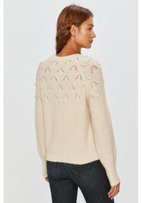 Answear Lab - Sweter. Kolor: beżowy. Długość rękawa: raglanowy rękaw. Styl: wakacyjny