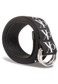 Calvin Klein Jeans - Pasek Męski CALVIN KLEIN JEANS - Ckj Tape D-Ring Woven 30 Mm K50K505863 BDS. Kolor: czarny. Materiał: materiał