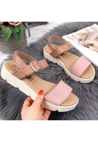 Różowe sandały El Pimpi eleganckie
