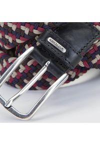 Wittchen - Męski pasek pleciony. Kolor: wielokolorowy. Materiał: jeans, sztruks, tkanina, skóra. Wzór: kolorowy. Styl: sportowy, casual, elegancki