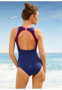 Kostium kąpielowy Tall bonprix ciemnoniebieski. Kolor: niebieski. Długość: długie