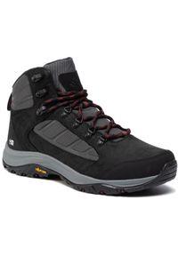 Czarne buty trekkingowe columbia z cholewką, trekkingowe