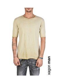 Xagon Man T-Shirt. Okazja: na co dzień. Materiał: bawełna. Wzór: aplikacja. Styl: casual