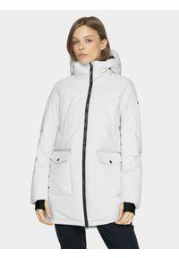 Biała kurtka zimowa 4f
