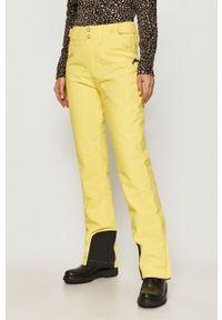 Żółte spodnie sportowe snowboardowe