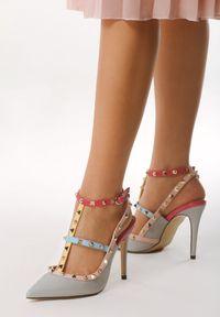 Szare sandały Born2be