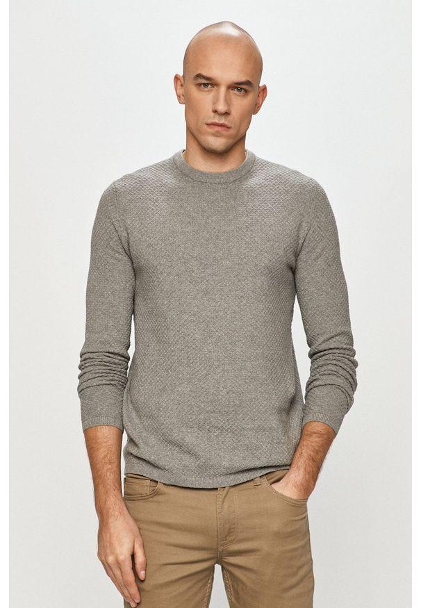 Only & Sons - Sweter. Okazja: na co dzień. Kolor: szary. Materiał: dzianina. Styl: casual