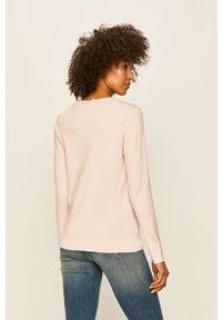 Różowy sweter TOMMY HILFIGER casualowy, na co dzień