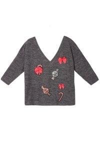 Szary sweter TOP SECRET wizytowy, na lato
