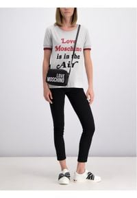 Love Moschino - LOVE MOSCHINO T-Shirt W4G8601M 3517 Regular Fit. Kolor: szary