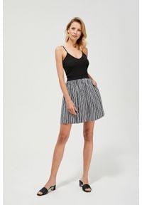 MOODO - Spódnica mini w paski. Materiał: wiskoza, guma. Wzór: paski