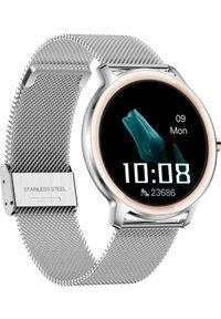 Srebrny zegarek Rubicon smartwatch