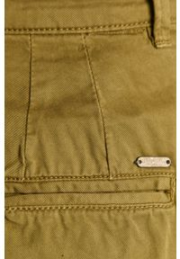 Pepe Jeans - Szorty Mamba. Kolor: zielony. Materiał: tkanina