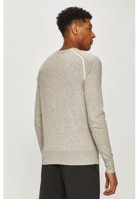AllSaints - Sweter. Okazja: na co dzień. Kolor: szary. Materiał: dzianina. Długość rękawa: długi rękaw. Długość: długie. Styl: casual