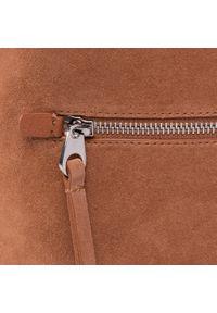 Brązowa torebka klasyczna Coccinelle zamszowa, klasyczna