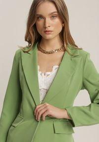 Renee - Jasnozielona Marynarka Kaliphethe. Kolor: zielony. Długość rękawa: długi rękaw. Długość: długie. Styl: elegancki #3