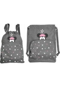 Beniamin Worko-plecak Minnie Mouse szary. Kolor: szary. Wzór: motyw z bajki