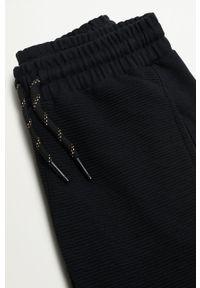 Czarne spodnie dresowe Mango Kids gładkie