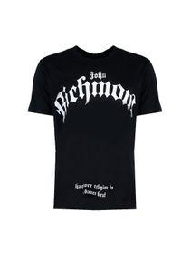 """John Richmond T-Shirt """"Genyen"""". Okazja: na co dzień. Materiał: bawełna. Długość rękawa: krótki rękaw. Długość: krótkie. Wzór: nadruk. Styl: casual"""
