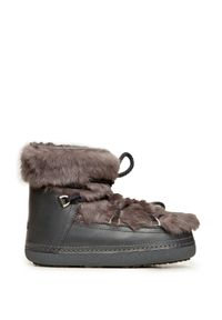 Szare buty zimowe Inuikii z cholewką