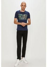 Niebieski t-shirt s.Oliver z nadrukiem