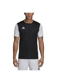 Koszulka sportowa Adidas na fitness i siłownię, w kolorowe wzory