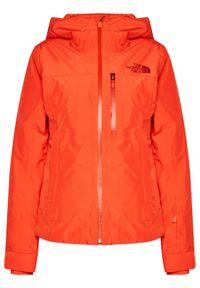 Czerwona kurtka sportowa The North Face narciarska