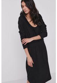 Czarna sukienka GAP na co dzień, gładkie