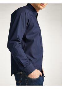 Lee Koszula L880JK35 Granatowy Regular Fit. Kolor: niebieski