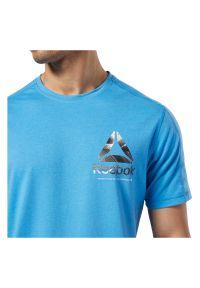 Koszulka męska Reebok One Series Training Speedwick EC1029. Materiał: poliester, materiał, bawełna. Długość rękawa: krótki rękaw. Długość: krótkie. Sport: fitness