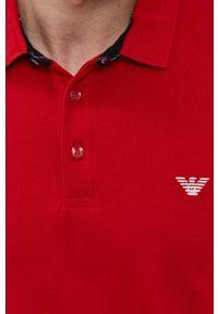 Emporio Armani Underwear - Emporio Armani - Polo. Okazja: na co dzień. Typ kołnierza: polo. Kolor: czerwony. Materiał: dzianina. Długość: krótkie. Wzór: gładki. Styl: casual