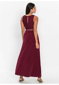 Czerwona sukienka bonprix wizytowa, maxi