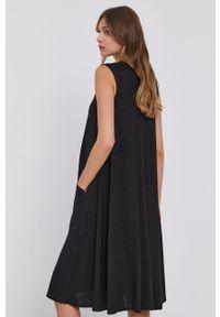 MAX&Co. - Sukienka. Okazja: na co dzień. Kolor: czarny. Materiał: dzianina, tkanina. Długość rękawa: na ramiączkach. Wzór: gładki. Typ sukienki: proste. Styl: casual