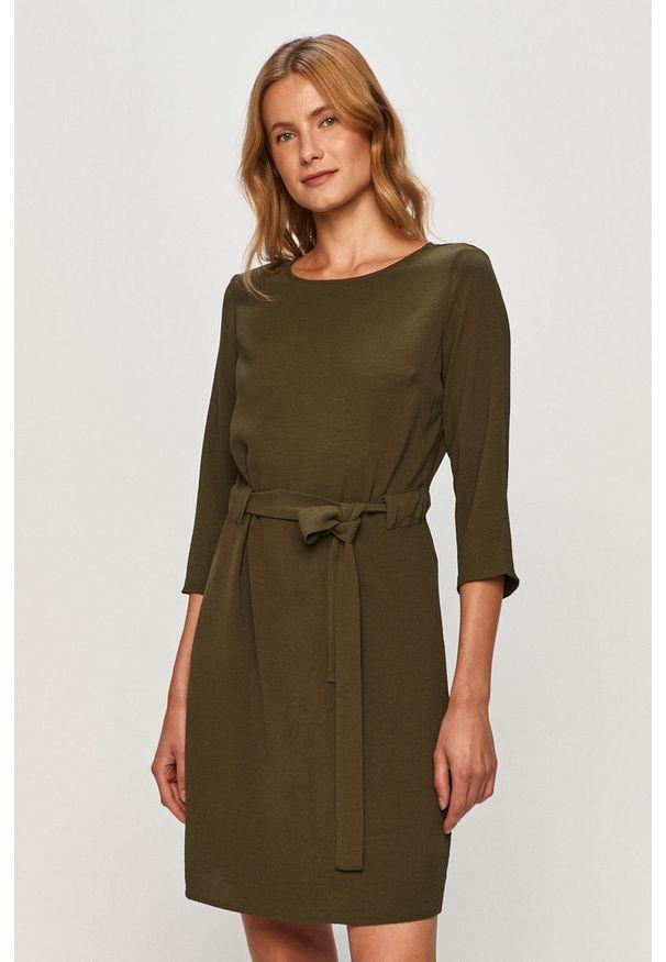 Zielona sukienka Vila prosta, casualowa, mini