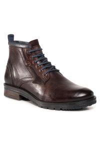 Brązowe buty zimowe Wrangler z cholewką, eleganckie