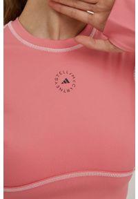 Adidas by Stella McCartney - adidas by Stella McCartney - Longsleeve. Okazja: na plażę. Kolor: różowy. Materiał: dzianina, materiał. Długość rękawa: długi rękaw