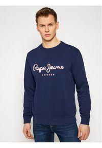 Pepe Jeans Bluza George 2 PM582008 Granatowy Regular Fit. Kolor: niebieski