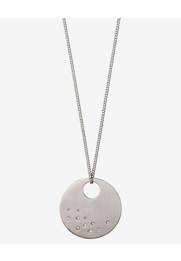 Srebrny naszyjnik Pilgrim z kryształem, w kolorowe wzory