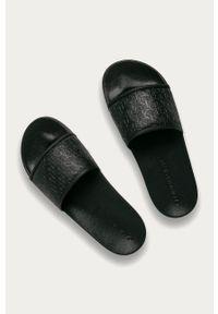 Czarne klapki Calvin Klein Jeans gładkie