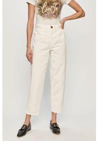 Białe jeansy Pinko klasyczne, z podwyższonym stanem