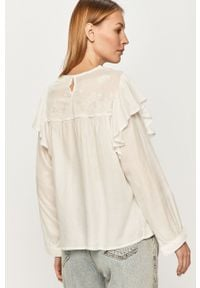 Biała bluzka Answear Lab z długim rękawem, wakacyjna, długa, na co dzień