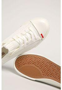 Białe tenisówki Big-Star z okrągłym noskiem, na sznurówki, z cholewką