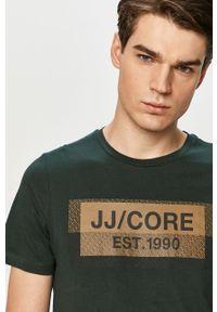 T-shirt Jack & Jones z nadrukiem, casualowy, na co dzień